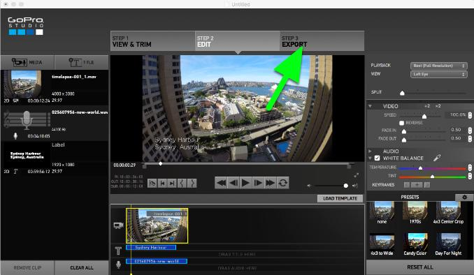 exporting-the-timelapse-video