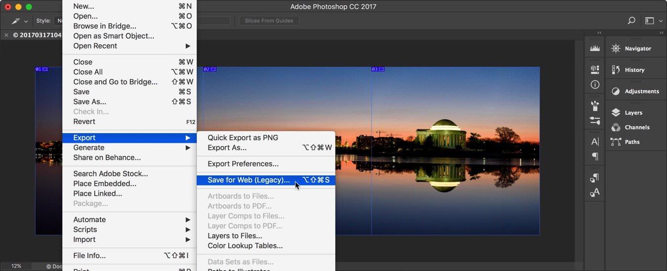 панорам, Instagram, Photoshop