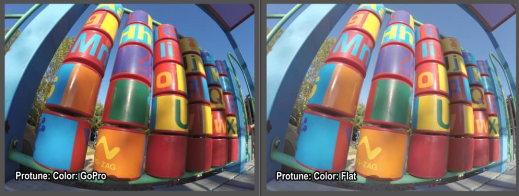 GoPro color vs Flat